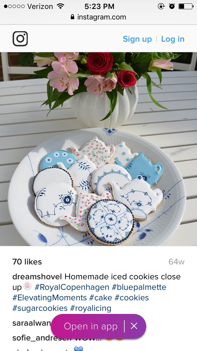 Aren't these the most beautiful cookies you've ever seen!! Wow! ☺️