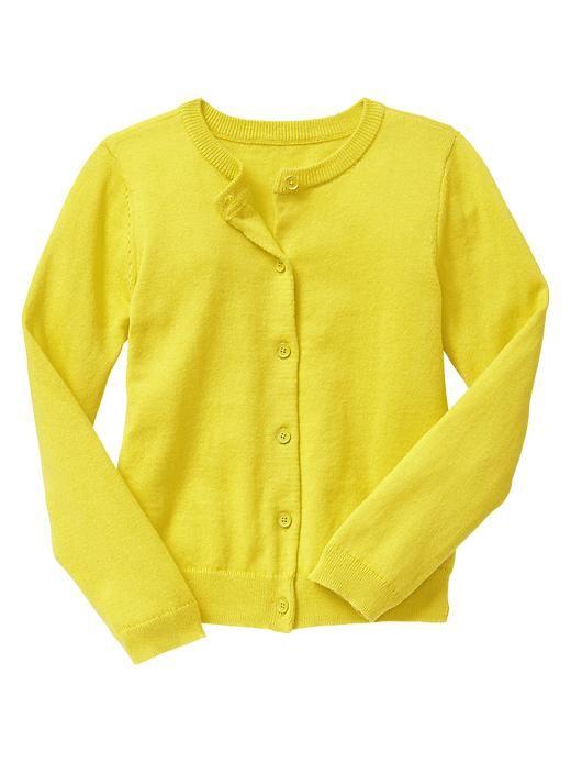 Pretty bright yellow sweater.