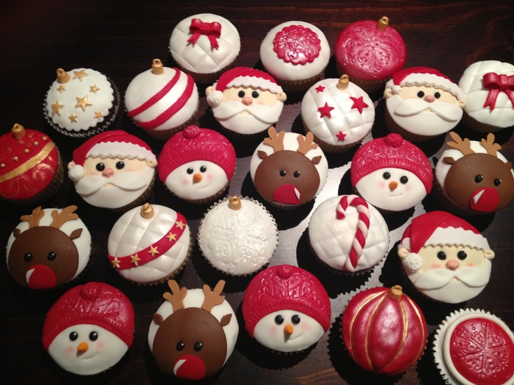 Christmas cupcakes 2012