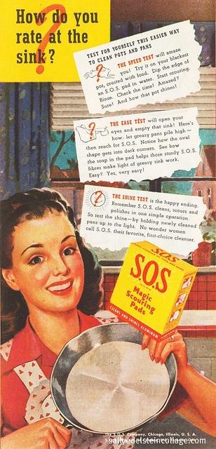 SOS For The # Housewife 1946 #vintage #kitchen #housework #1940s #advertising: Vintage Kitchens, 1940S Cooking, 1946 Vintage, Housewife 1946, 1940S Home, Housework 1940S, Photo, 1940S Advertising, Kitchens Housework