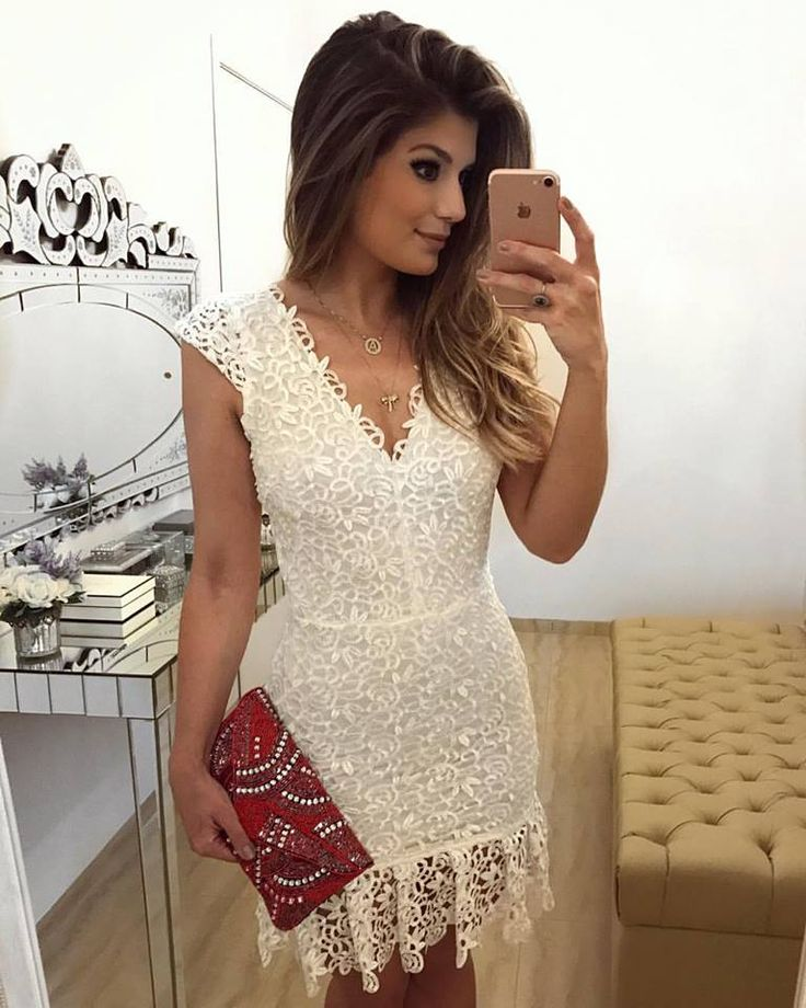 Vestido renda branco