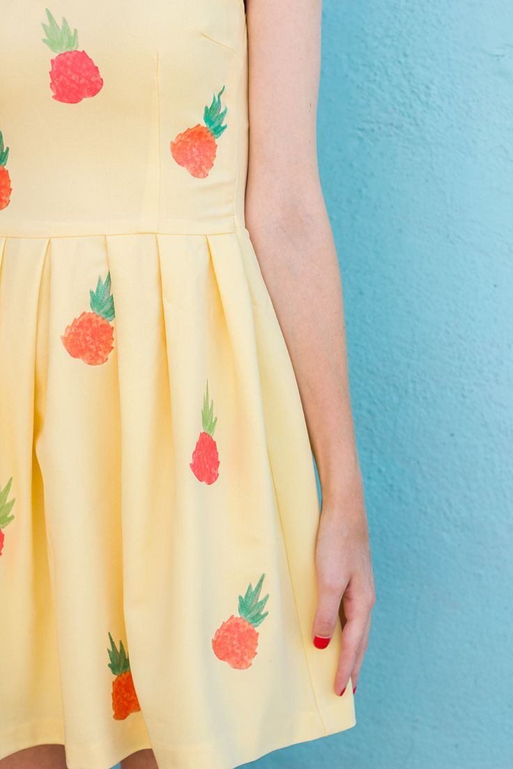 Pineapple Dress DIY and Free Iron-on Printable #Durathon