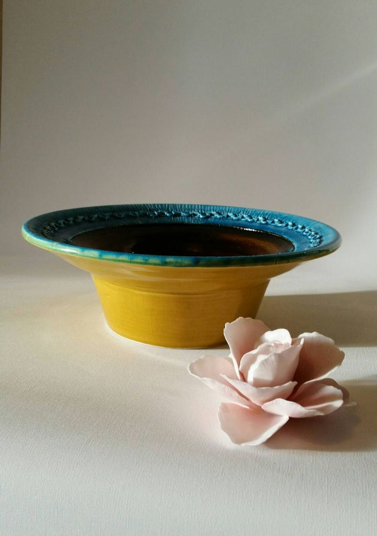 Rare beautiful Bitossi bowl Rimini blu 1970s by NordicFiesta on Etsy