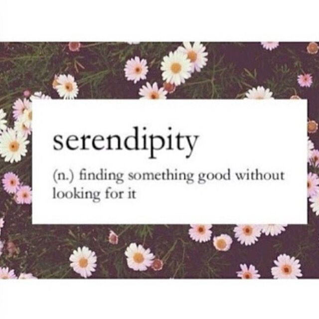 Wishing everybody a lil bit of serendipity into their day