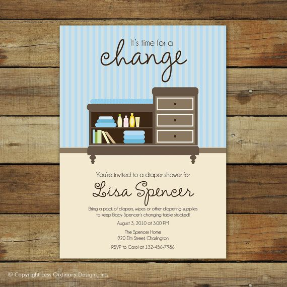 9 best Party - Diaper Shower Invitations images on Pinterest