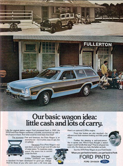 1974 Ford Pinto Squire Station Wagon. Again with the paneling!