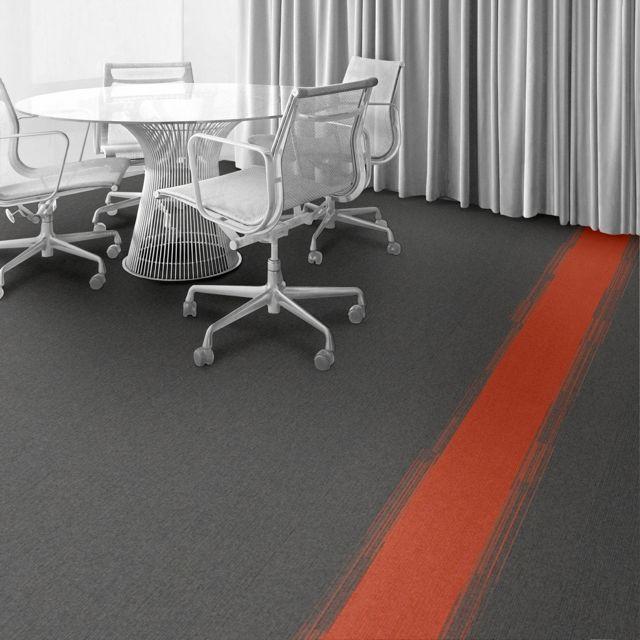 Interface Carpet Tile: Color: North Sea Installation Method: Non  Directional Room Scene: Private Office