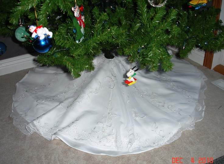 Girl christmas stocking from wedding dress for a little see more pin 2