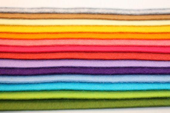 wool blend hight quality felt set of 15 by Naturalwoolsupplies, $15.00