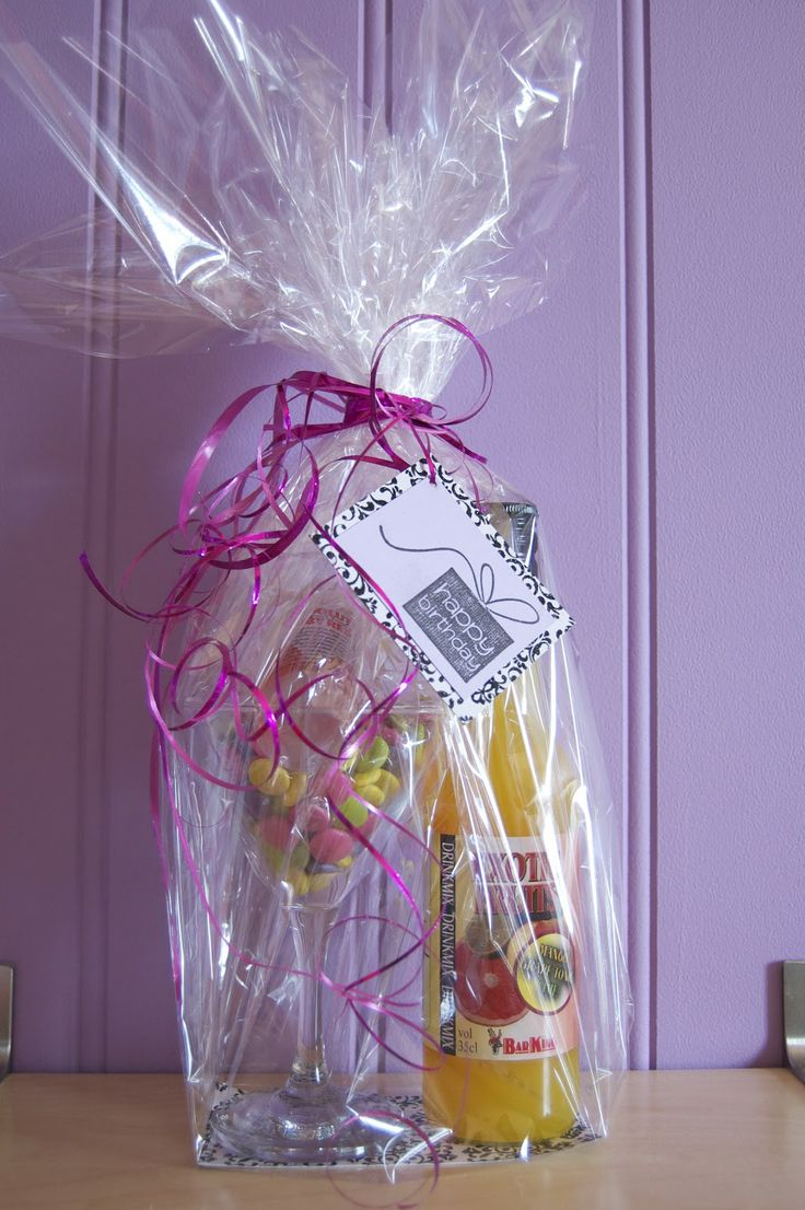 Drink Mix Gift Basket for 21st Birthday Gift