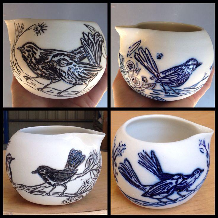 Australian birds. Porcelain milk jugs. http://www.rediscovering.com.au/home