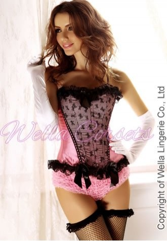 Pink Bows Strapless Corset