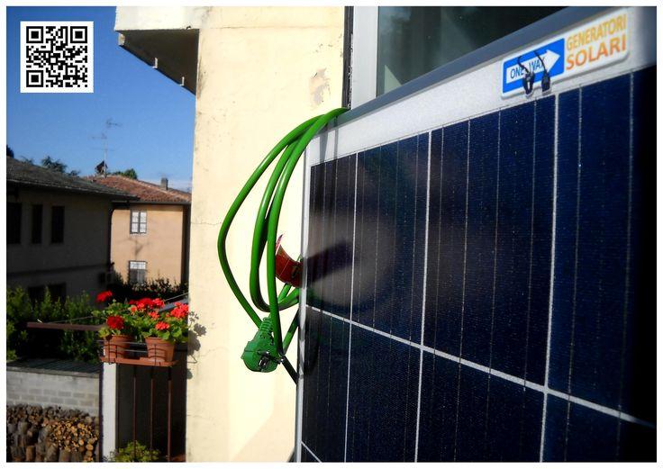 Microfotovoltaico One Way - Efficienza Energetica Condominiale, Nel balcone con una semplice spina 250 KW/h. di risparmio all'anno.