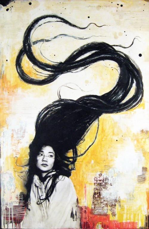by David Hochbaum: Hair Fresh, Art Blog, Art Journals, Illustration, Art History, Paintings Artworks, Bydavid Hochbaum, Futakuchi Onna, Artists David