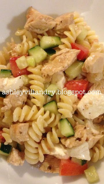 The Healthy Life: Mediterranean Pasta Salad. Fast, easy and #healthy #pasta #salad recipe! Great served cold in the summer for a light dinner, or perfect as a refrigerated pre-made lunch to take to work/school!