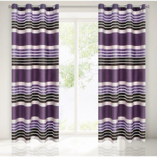 Luxusne dekoracne zavesy fialovej farby