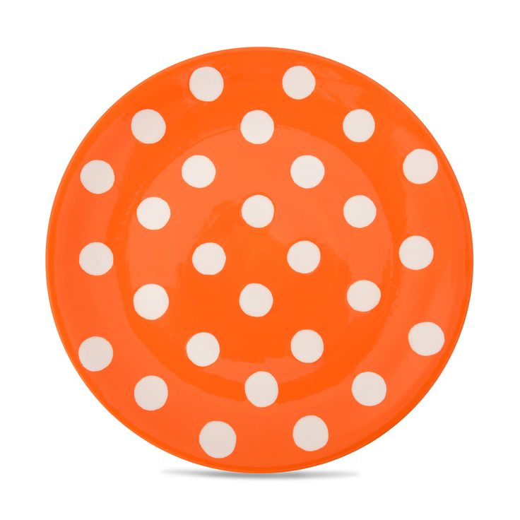Buy the Florence Orange Spot Side Plate, part of the Florence Collection of hand-painted stoneware at Whittard of Chelsea
