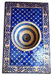 Moroccan tile sink (Gorgeous sink! One of these days, I will be able to afford a beautiful sink for my bathroom or kitchen lol. (I think this beauty is $1300!!) So very pretty....expensive....but pretty lol)