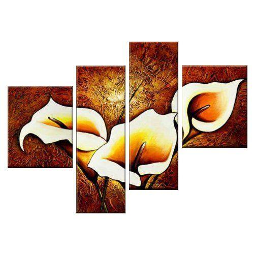 Amazon.com: Сантин Арт-Блеск-Современная Холсте Декор Стены Цветочные Картины Маслом Стены Искусства: Картины Маслом