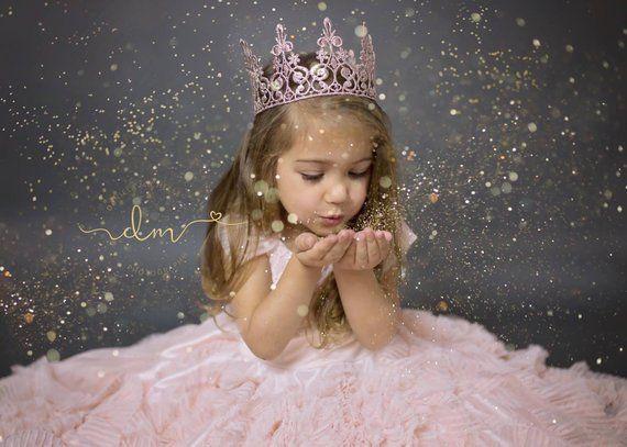 Geburtstag Krone in Pink Rose Gold – Spitze Krone – Kuchen Smash – Queen – Tiara – Royal – Foto Prop