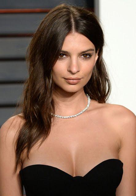 Celebrity Hair Style: Emily Ratajkowski 2016 Vanity Fair Oscars Party   Anastasia's Beauty Secrets