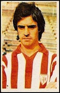 Rojo I. Athletic Club de Bilbao. Cromos Ruiz Romero. Temporada 1976-77.