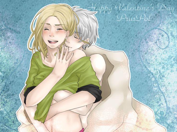Happy Valendine's Day - PrusPol by EMi-DarkChocolateCat.deviantart.com on @deviantART