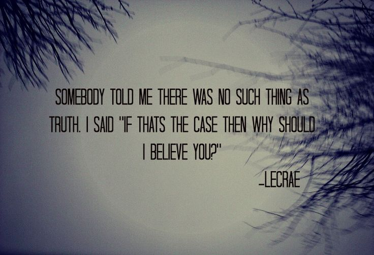 One of the BEST quotes I have ever heard. Ever. But especially in a rap song. :)