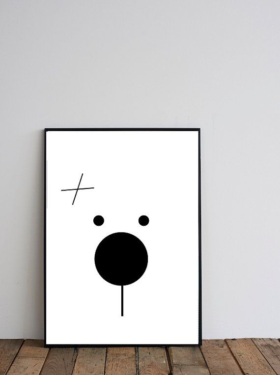 Animal Printable Art Nursery Animal Printable bear by Digitallab