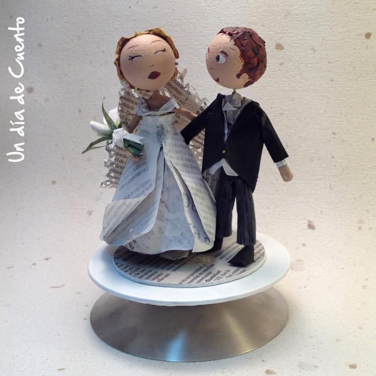 Muñecos tarta de boda para undiadecuento. Personalizados!