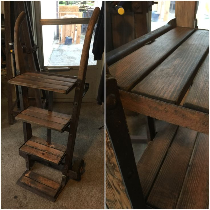 Antique hand cart that I transformed into a dispatch piece or a little corner book shelf.