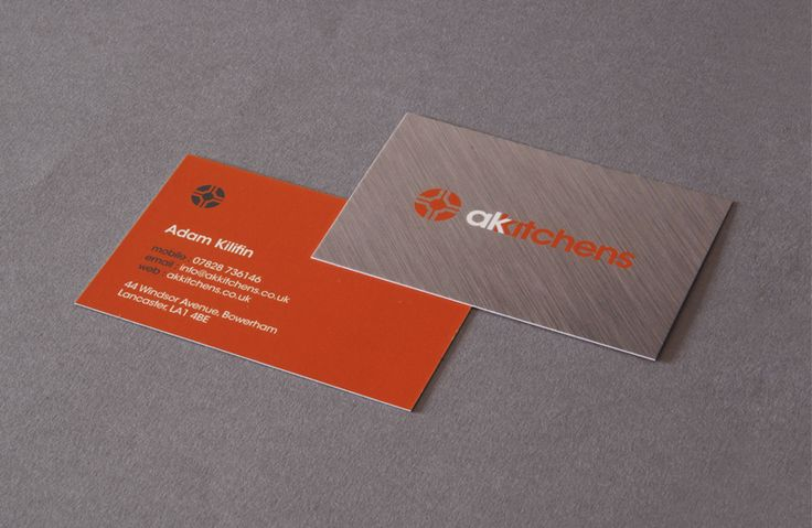 AK Kitchens Business card design | The Design Attic