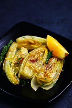 #French #Dishes - Endives braisées à l'orange, thym et pignon http://www.thefrenchpropertyplace.com