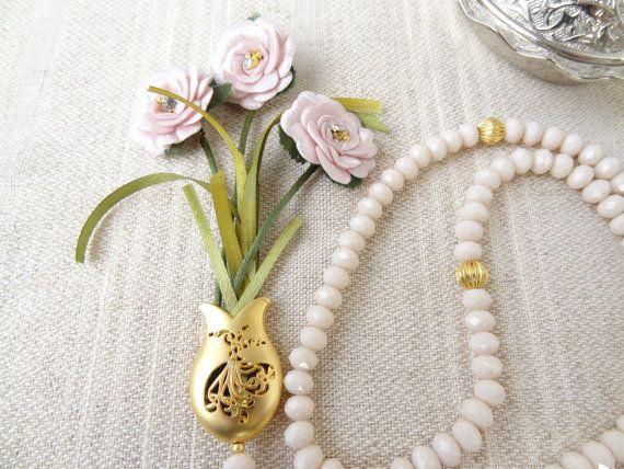 Turkish Islamic 99 Prayer Beads Pink Powder by sevinchjewelry