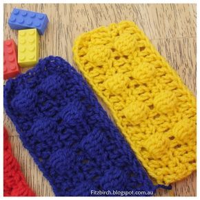 Lego Brick Crochet Scarf -- This would also make a cute afghan for a Lego fan.