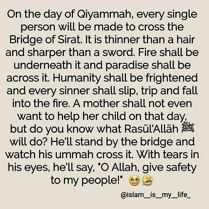 Bridge of Sirat. Astagfirullah. May Allah protect us all.
