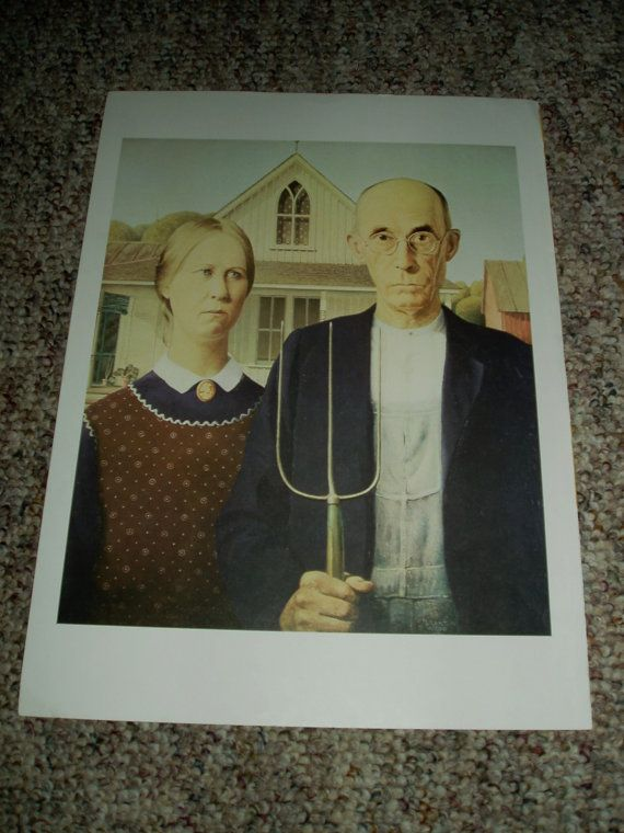 American Gothic by Grant Wood art print masters of by DivaDecades