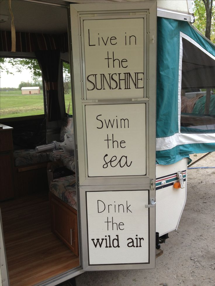 sharpie quote on our pop up camper door. 70 best images about Pop Up Camper Ideas on Pinterest   Tent