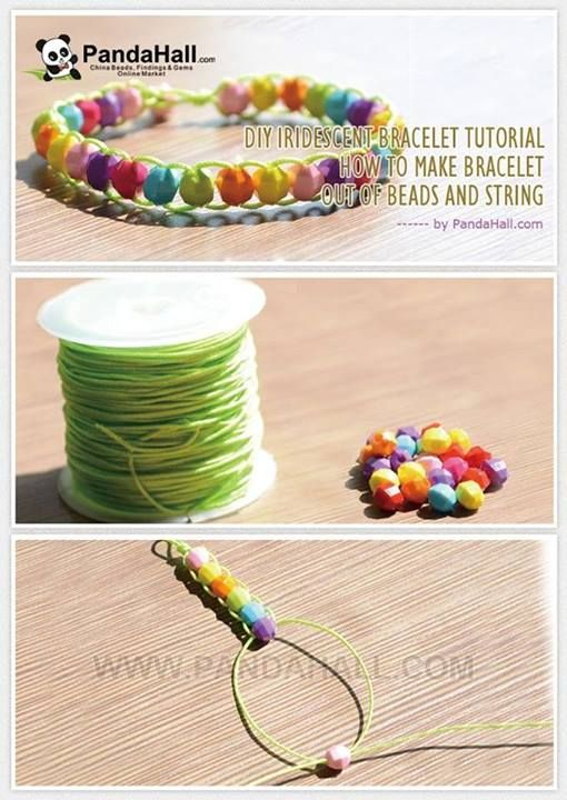 Bracelet out of beads and string