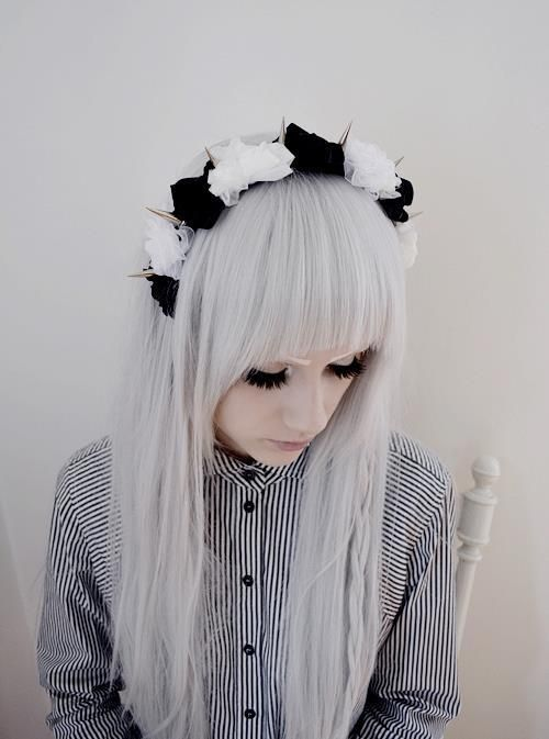 What can i do with my hair?  i dont want to dye it tho.  anything i could do to make it pastel goth without dye?