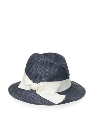 40% OFF Il Cappellaio Women's Casablanca Soft Fedora (Navy/Off White)