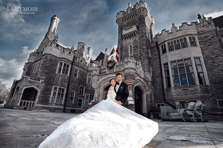 Couture Prewedding and Engagement session by LaMemoir, Toronto's editorial  wedding photographer at Casa Loma Toronto #casaloma #prewedding #Toronto #Editorial #Wedding #Photographer #Stylized #casa #loma #engagement #photo #ethereal