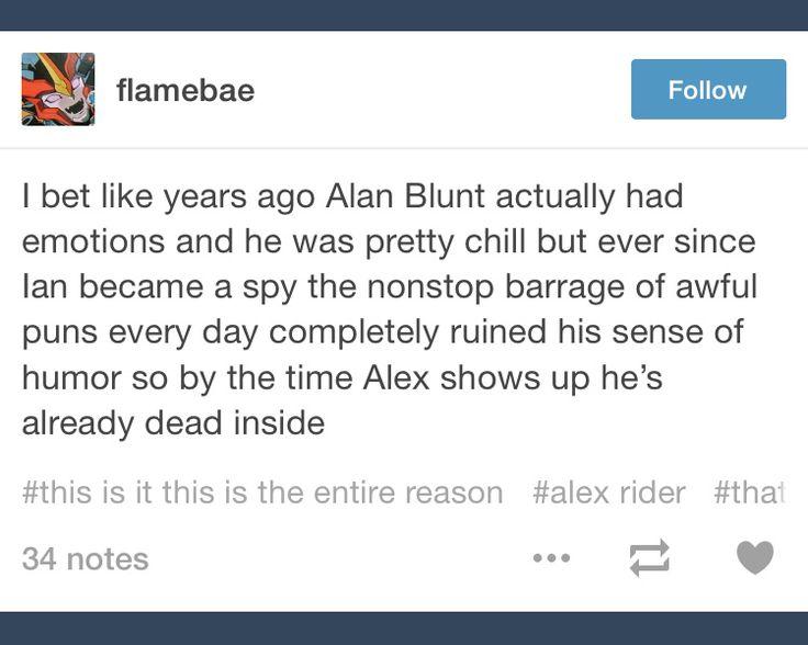 Alan Blunt; Ian Rider; Alex Rider; tumblr