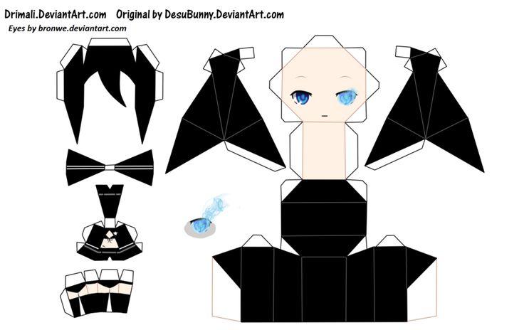 Anime Papercraft Templates Papercraft Anime Vocaloids