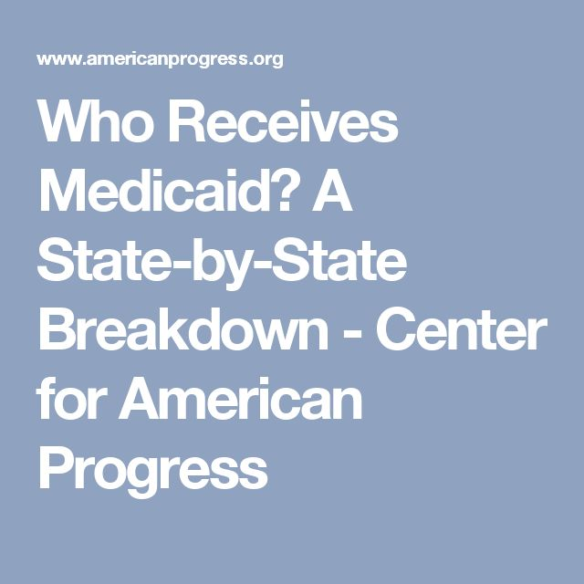 Who Receives Medicaid? A State-by-State Breakdown - Center for American Progress