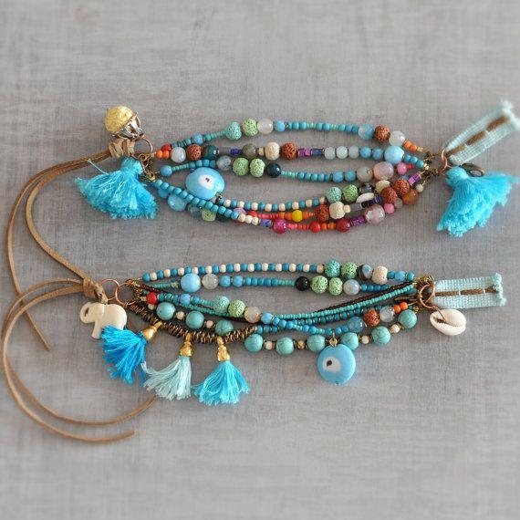 Boho  Hippie  Bohemian  Gypsy Tassel Beaded by stellacreations
