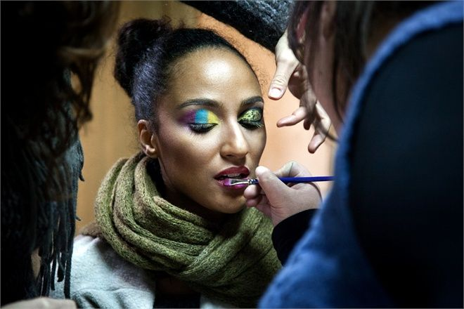 Backstage Take fice.  mua: mary samele makeup