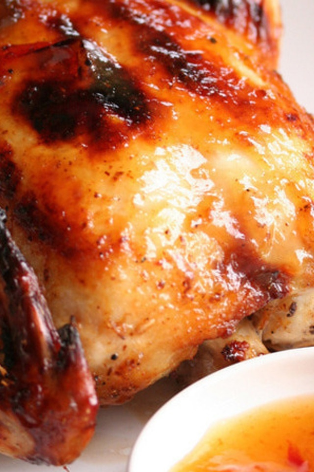 Roasted Chicken with Sweet Plum Sauce | Entrees | Pinterest