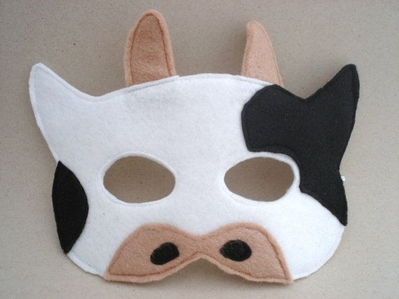 Child Cow Mask by herflyinghorses on Etsy