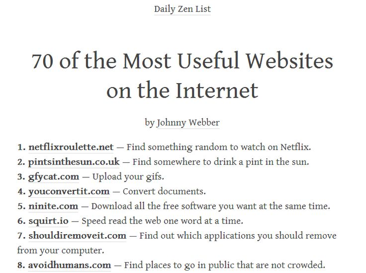 The Websites That Will Change Your Life - Album on Imgur